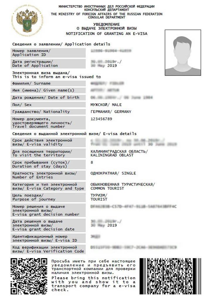 e visa application russia