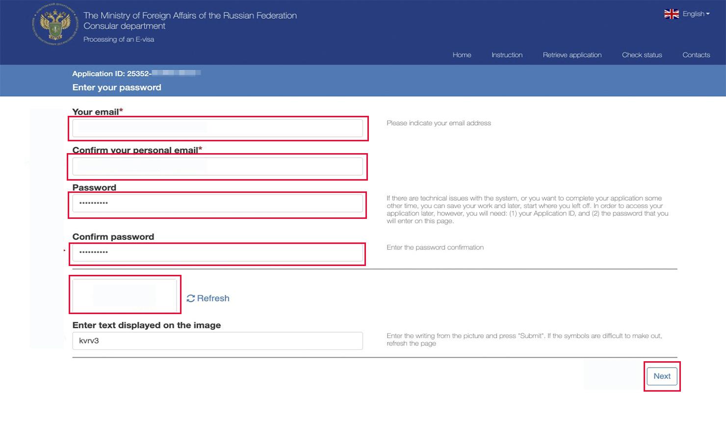 e-visa application russia