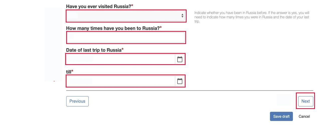 russia e visa